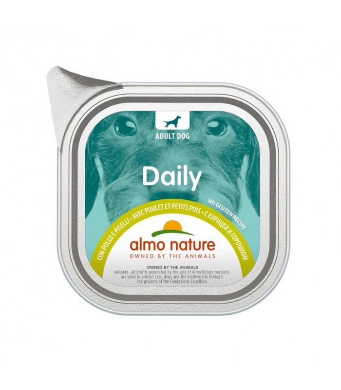 Almo nature pfc daily menù cane con pollo e piselli 100 gr