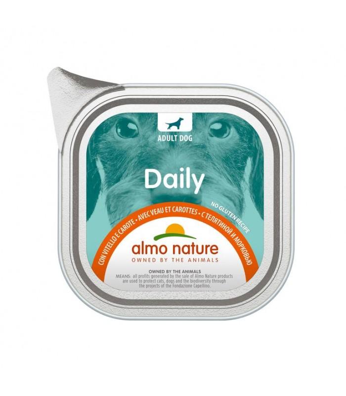 Almo nature pfc daily menù cane con vitello e carote 100 gr