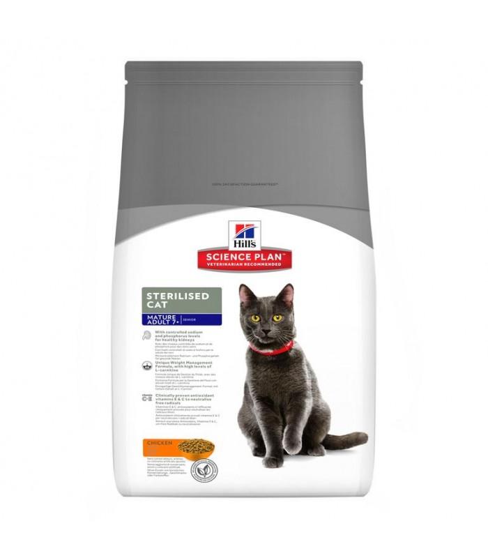Hill's Science Plan gatto Mature Adult 7+ Sterilised Al Pollo 1,5 kg