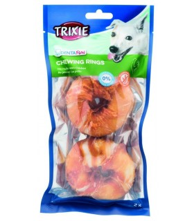 Trixie denta fun 2 x chewing rings pollo 110 gr