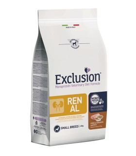 Exclusion diet formula renal maiale e riso small breed 2 kg