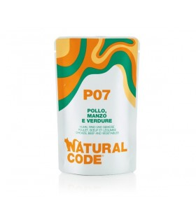 Natural code P07 gatto pollo manzo e verdure 70 gr