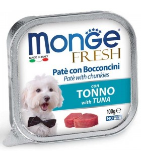 Monge cane fresh pate e bocconcini con tonno 100 gr