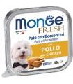 Monge cane fresh pate e bocconcini con pollo 100 gr