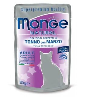 Monge gatto adult tonno con manzo bustina 80 gr