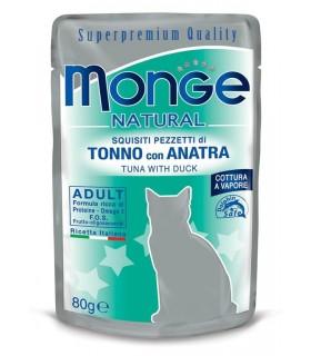 Monge gatto adult tonno con anatra bustina 80 gr