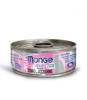 Monge gatto jelly pezzi di tonno con acciughine 80 gr