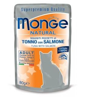 Monge gatto adult tonno con salmone bustina 80 gr