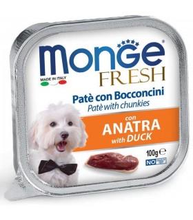 Monge cane fresh pate e bocconcini con anatra 100 gr
