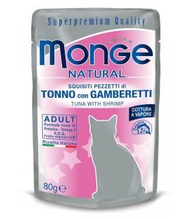 Monge gatto adult tonno con gamberetti bustina 80 gr
