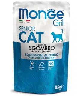 Monge gatto grill senior bocconcini ricco in sgombro busta 85 gr