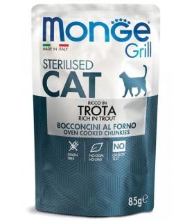 Monge gatto grill sterilised bocconcini ricco in trota busta 85 gr