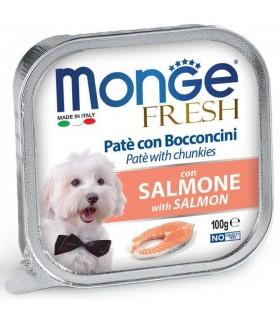 Monge cane fresh pate e bocconcini con salmone 100 gr