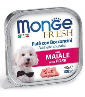 Monge cane fresh pate e bocconcini con maiale 100 gr