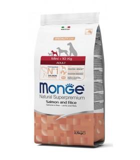 Monge cane adult mini salmone e riso 2,5 kg