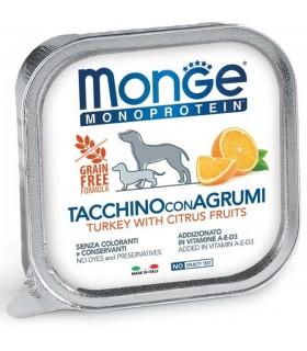 Monge cane monoprotein fruit tacchino con agrumi 150 gr