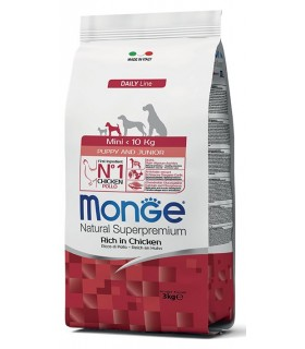 Monge cane puppy & junior mini pollo 3 kg