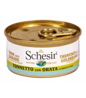Schesir gatto tonnetto con orata in brodo di pesce 70 gr