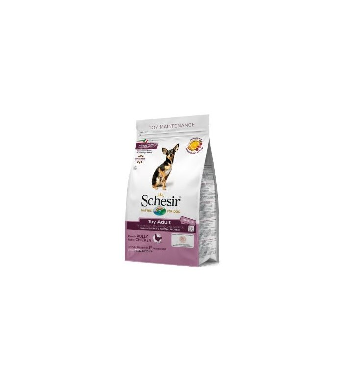 Schesir cane Toy Adult Mantenimento ricco in pollo 2 kg