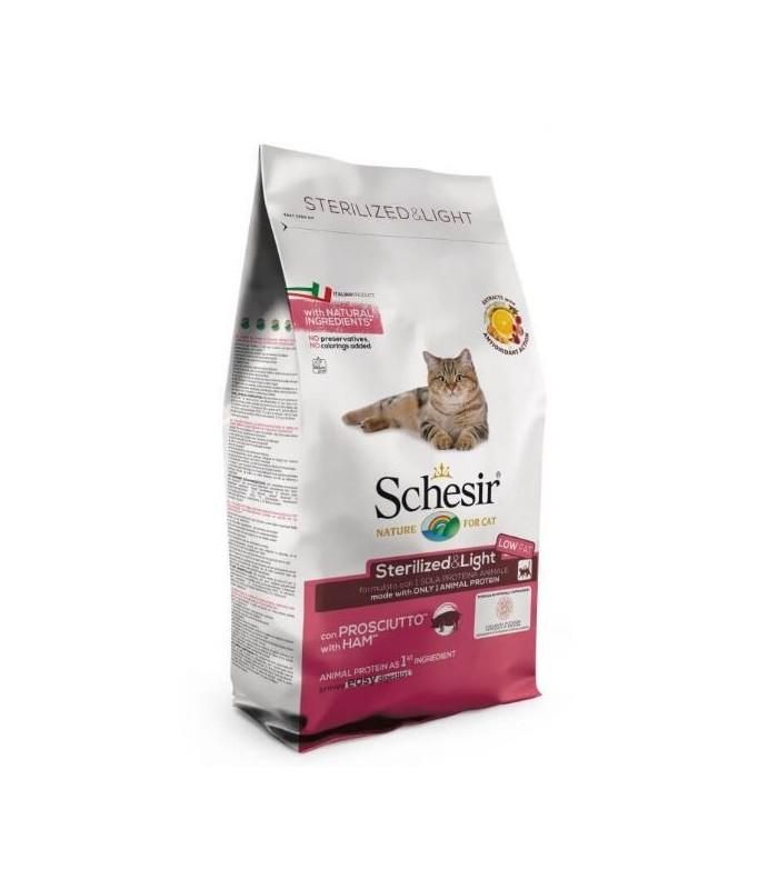 Schesir gatto adult Sterilized & light con prosciutto 1,5 kg