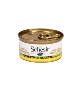 Schesir gatto tonnetto con alicette in brodo di pesce 70 gr