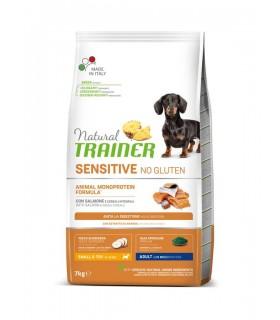 Natural trainer Sensitive cane No Gluten Mini Adult Salmone 7 KG