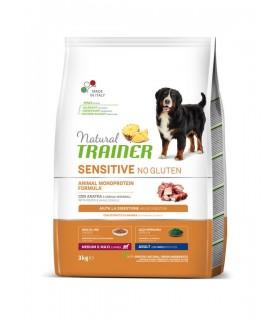 Natural trainer Sensitive cane No Gluten MediumMaxi Adult Anatra 3 kg