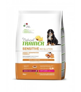Natural trainer Sensitive cane No Gluten MediumMaxi Puppy&Junior Salmone 3 kg