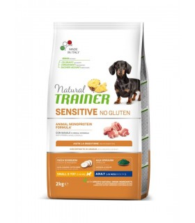 Natural trainer Sensitive cane No Gluten Mini Adult Maiale 2 kg
