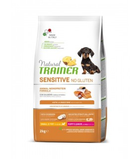 Natural trainer Sensitive cane No Gluten Mini Puppy&Junior Salmone 2 kg