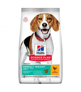 Hill's Science Plan cane perfect weight adult medium pollo 12 kg