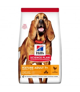 Hill's Science Plan cane light mature adult 7+ medium pollo 12 kg