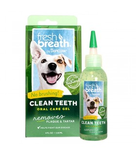 Tropiclean fresh breath clean teeth gel 118 ml