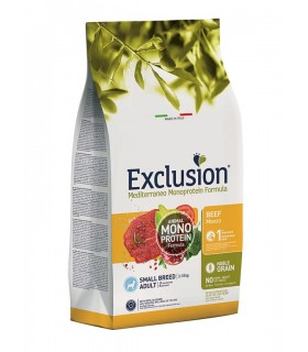 Exclusion mediterraneo adult small breed manzo 2 kg