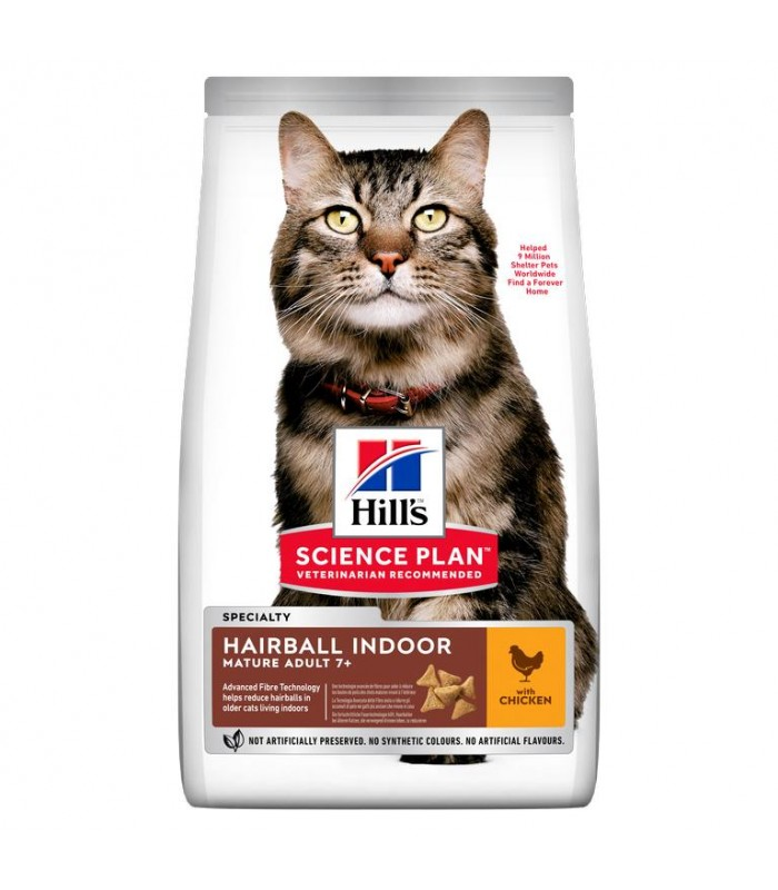 Hill's Science Plan gatto Mature Adult 7+ Hairball Indoor 1,5 kg