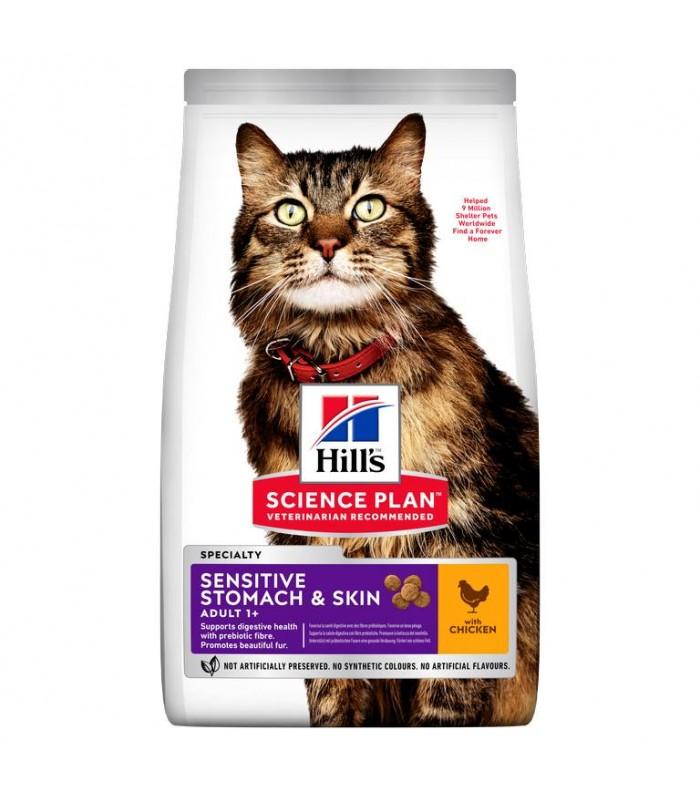 Hill's Science Plan Adult Sensitive Stomach & Skin gatto pollo 1,5 kg