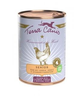 Terra canis senior pollo con cetriolo, zucca e erbe officinali 400 gr