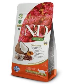 Farmina n&d quinoa gatto skin&coat aringhe 5kg