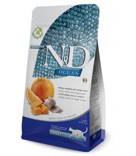 Farmina n&d ocean gatto aringa zucca e arancia 1,5 kg