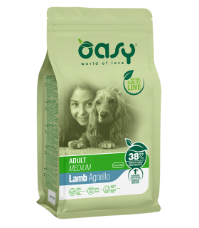 Oasy cane adult medium agnello 12 kg