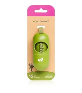 Earth rated distributore con sacchetti biodegradabili fragranza lavanda 1 rotolo x 15 sacchetti