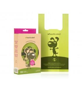 Earth rated sacchetti biodegradabili con manici fragranza lavanda 120 pz senza rotolo