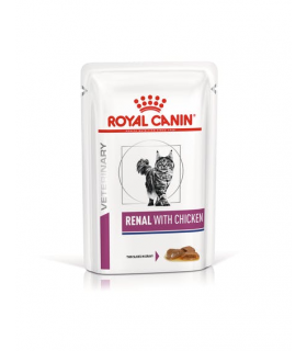 Royal canin gatto renal pollo 12 buste 85 gr
