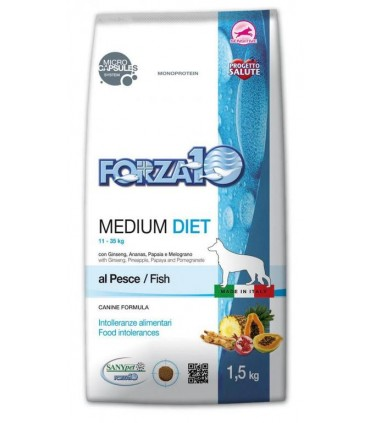 FORZA 10 CANE MEDIUM DIET PESCE 1,5 KG NEW