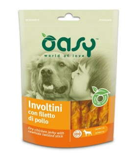 Oasy snack cane involtini con filetto di pollo 100 gr