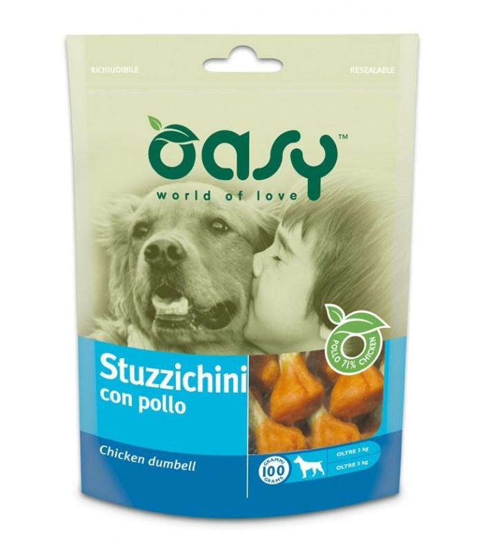 Oasy snack cane stuzzichini con pollo 100 gr