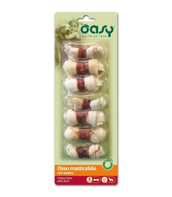Oasy snack cane osso anatra taglia S 90 gr