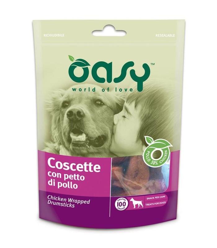 Oasy snack cane coscette con petto di pollo 100 gr