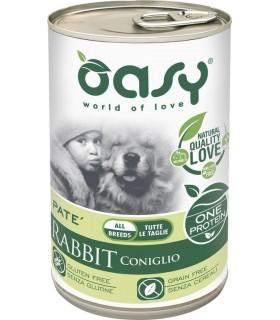 Oasy cane adult coniglio umido 400 gr