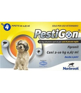Pestigon spoton 4 pipette 67 mg cani piccoli